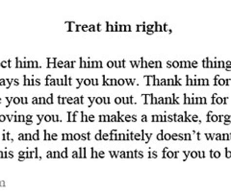 treat girl right quotes