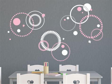 Wandgestaltung Kinderzimmer Kreise by Wandtattoo Zweifarbiges Kreise Ornament Wandtattoo De