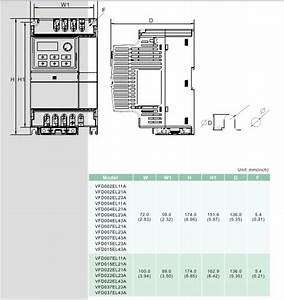 Delta Inverter Vfd Drive Vfd004el43a 3phase 380v 0 4kw 0