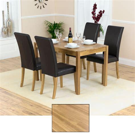 atlanta solid oak dining table and 4 atlanta chairs 13521