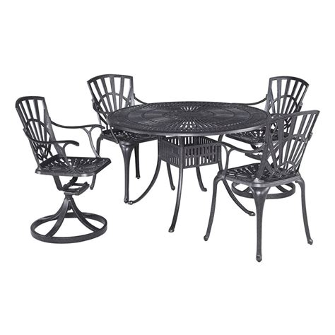 shop home styles largo 5 charcoal aluminum patio