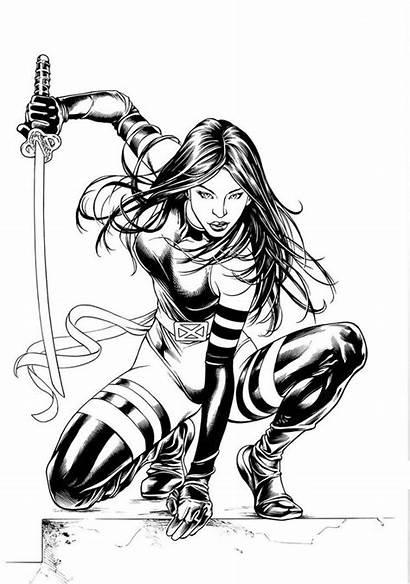 Psylocke Inks Clark Coloring Manny Comics Deviantart