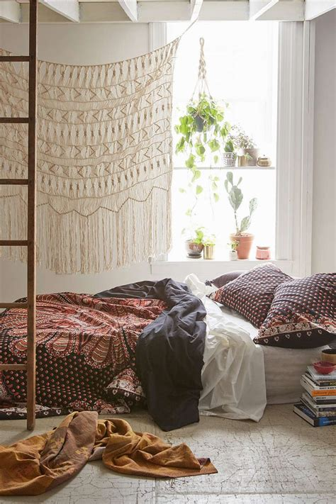 eclectic bedroom with hanging bed is light best 25 bohemian room decor ideas on bohemian