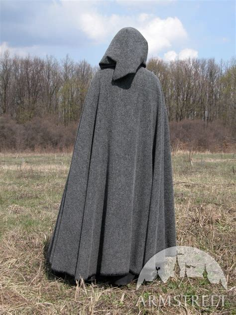 great soft  warm medieval cloak    natural