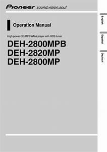 Deh-2820mp Manuals