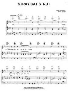 stray cat strut stray cat strut sheet by stray cats piano vocal