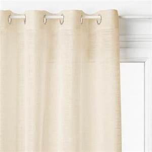 Rideau Voilage Lin : rideau voilage alton 140x240cm lin ~ Teatrodelosmanantiales.com Idées de Décoration