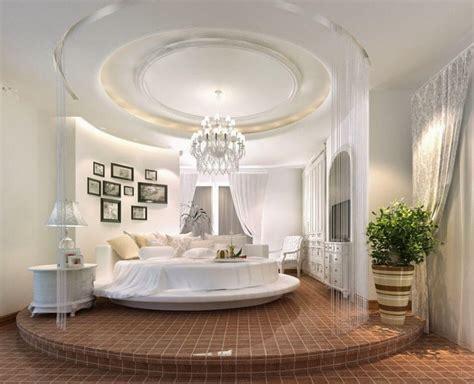 chambre a coucher avec lit rond le lit rond pour meubler la chambre à coucher d une