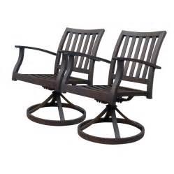 shop allen roth set of 2 gatewood brown slat seat