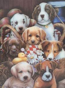 dogs puppies 3d animated picture 1