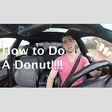 How To Do A Donut (drift) In A Car Youtube