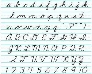 Philippine basic education cursive handwriting no longer for Basic cursive letters
