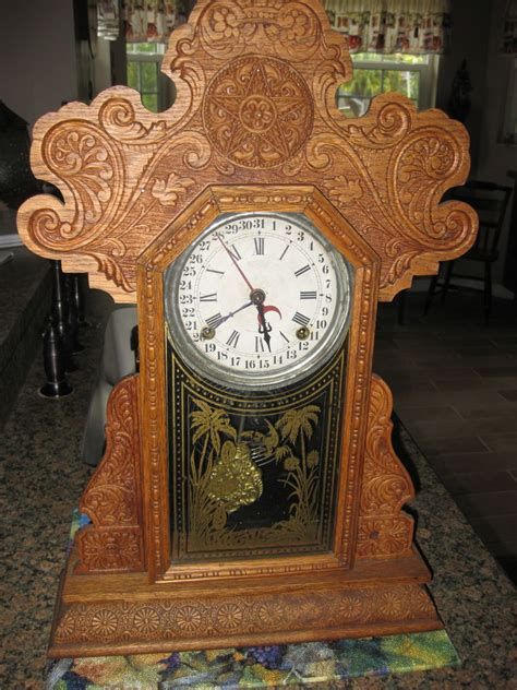 Mantle L Model 23 by Antique E Ingraham Co Calendar Mantle Clock Model Urania