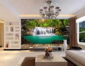 d 233 coration murale trompe l oeil effet papier peint 3d paysage peronnalis 233 la cascade tropicale