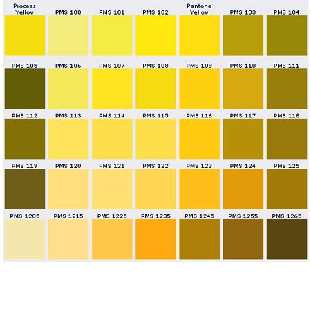 Golden Colour Chart by Custom Pins Color Chart Pantone Matching System