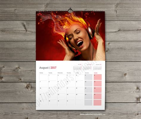 photo calendar template monthly wall planner 2018 template printable photo wall calendar