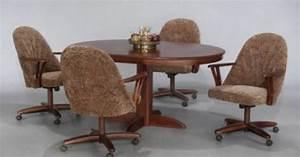 Chromcraft Furniture Swivel Tilt Caster Dining Set