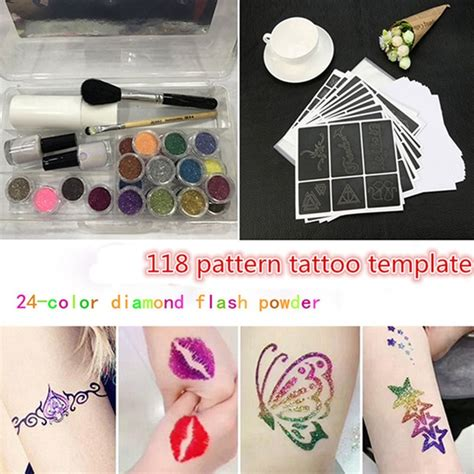 ishowtienda glitter tattoo powder temporary tattoo body