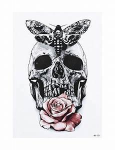 Dessin Tete De Mort Avec Rose : tatouage tete de mort mexicaine avec rose ~ Melissatoandfro.com Idées de Décoration