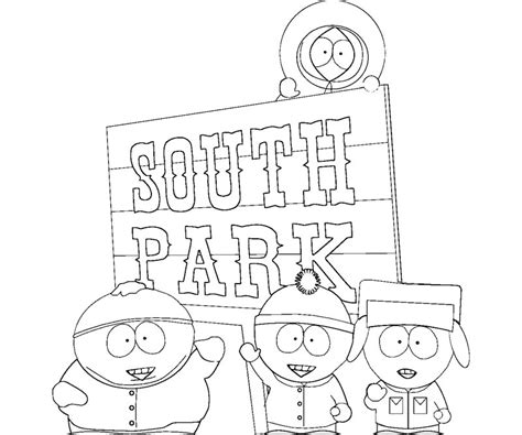 south park  cartoons printable coloring pages