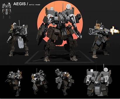 Sttheo Aegis Armor Robot Base Concept Robots