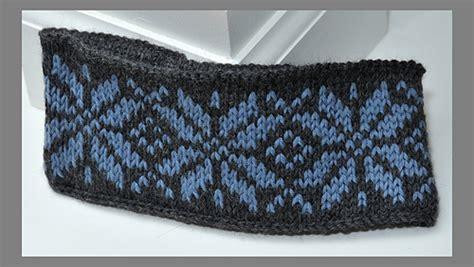 ravelry easy fair isle headbands pattern  diana jordan