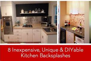 inexpensive backsplash ideas for kitchen eye 8 inexpensive unique and diyable backsplash ideas curbly diy design decor