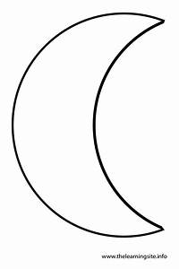 Crescent Moon Coloring Page | New Calendar Template Site
