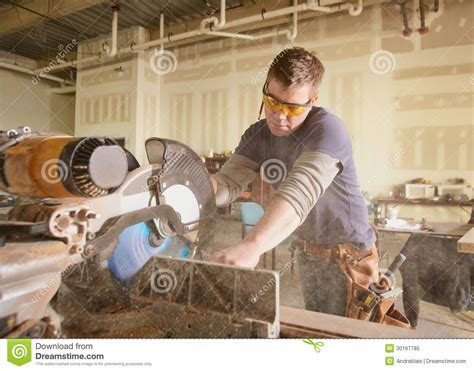 carpenter stock image image  labor carpenter handsome