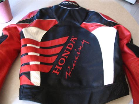Honda Leather Motorcycle Jacket Sz Xl