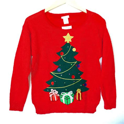 light up christmas sweaters sale led light up christmas tree tacky ugly holiday sweater