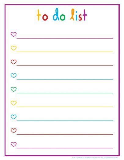rainbow themed printable daily checklists   lists printable daily checklist   checklist