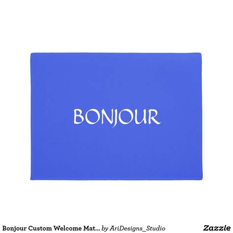 Bonjour Custom Welcome Mat French | Zazzle.com | Welcome ...