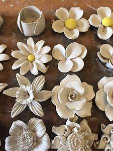 Flower making in 2019 | Ceramic art, Clay art projects ...