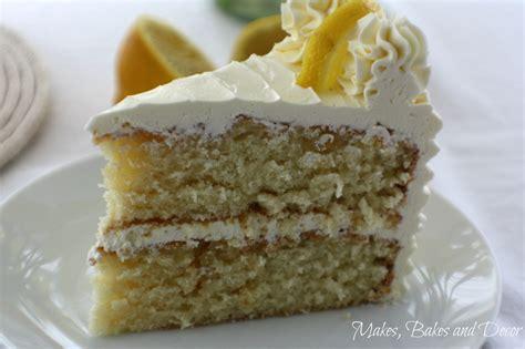 lemon drizzle layer cake  bakes  decor