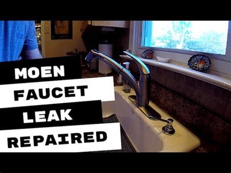 moen kitchen faucet leaking  handle connection youtube