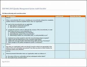 iso 9001 checklist audit for iso 90012015 With iso 9001 templates free download
