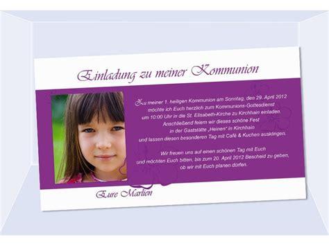 einladung kommunion konfirmation einladungskarte fotokarte