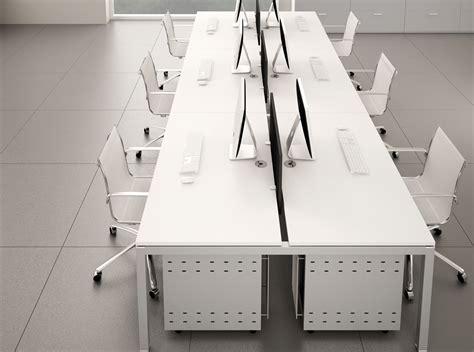 mobilier de bureau d occasion benchs bralco 2 postes sans cloison adopte un bureau