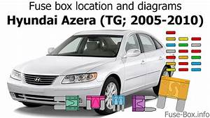 Fuse Box Location And Diagrams  Hyundai Azera  Tg  2005