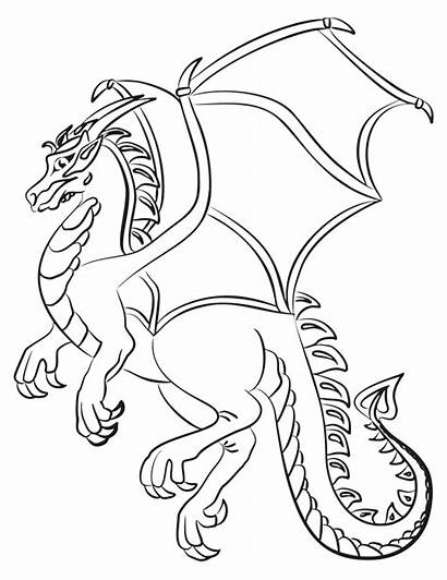 Cartoon Dragon Line Clip Svg Onlinelabels