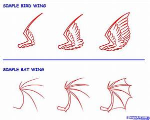 How to Draw Wings, Step by Step, Concept Art, Fantasy ...