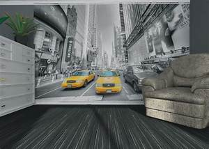 Fototapete tapete new york taxi yellow cap manhattan nyc for Balkon teppich mit skyline new york tapete