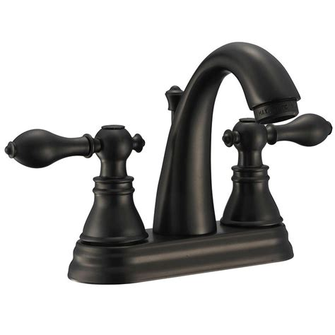 rubbed bronze bathroom faucets kingston brass classic 4 in centerset 2 handle high arc