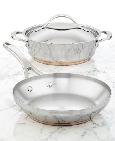 anolon nouvelle copper stainless steel  piece cookware set cookware cookware sets kitchen