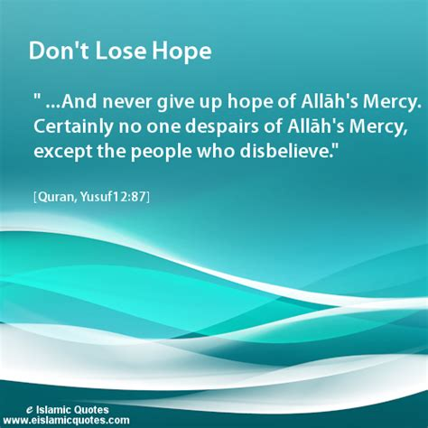 Islamic Hope Quotes