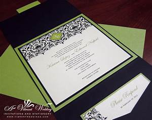 sage green wedding invitation a vibrant wedding With lime green black and white wedding invitations