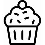 Svg Cake Icon Dessert Muffin Cup Pudding