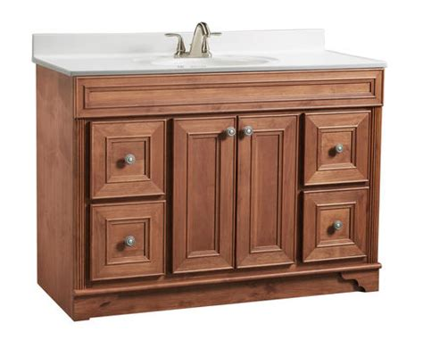 Briarwood Bathroom Cabinets Menards by Briarwood 48 Quot W X 21 Quot D X 34 1 2 Quot H Highland Vanity Sink
