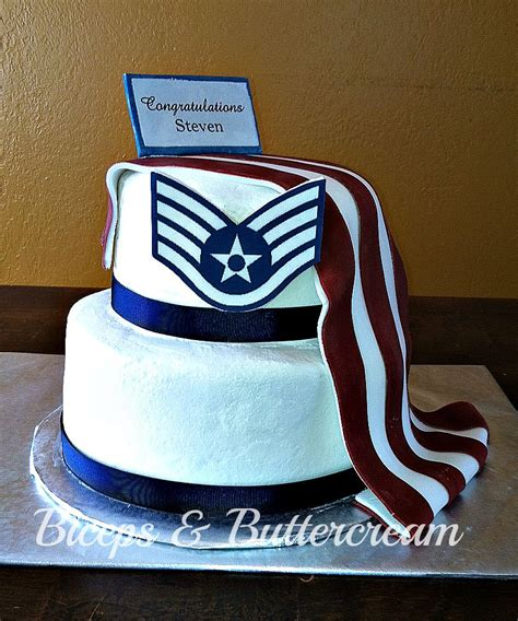 air force staff sergeant promotion cake party ideas